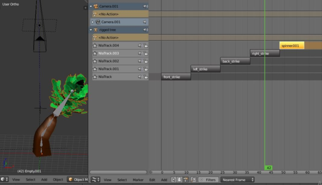 Animating trees in Blender