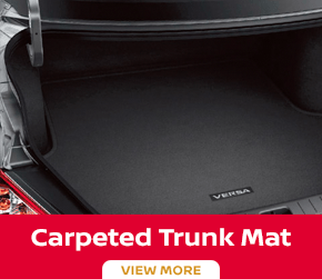 Click to order the Versa carpeted trunk mat at Carr Nissan in Beaverton, OR