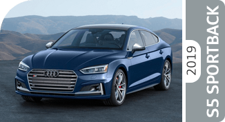 Click below to compare the new 2019 Audi S5 Sportback versus other luxury makes and models!