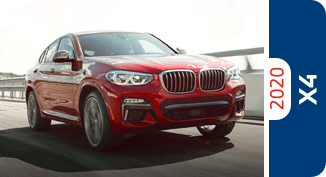 Compare the 2020 BMW X4 model with other competitive models and vehicle makes.