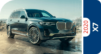 Compare the 2020 BMW X7 model with other competitive models and vehicle makes.