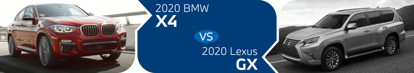 2020 BMW X4 vs 2020 Lexus GX Comparison in Norwalk, CA
