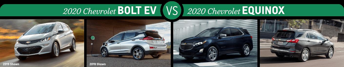 Chevrolet Model Comparison 2020 Chevy Bolt Ev Vs 2020 Chevy Equinox