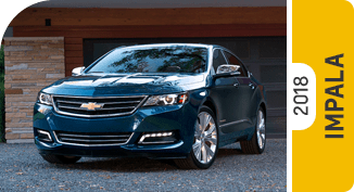 Click on each link to compare the Chevrolet Impala to the competition