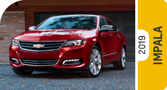 Compare new 2019 Chevrolet Impala vs Competitive Makes & Models