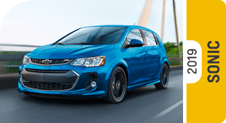 Compare new 2019 Chevrolet Sonic vs Competitive Makes & Models