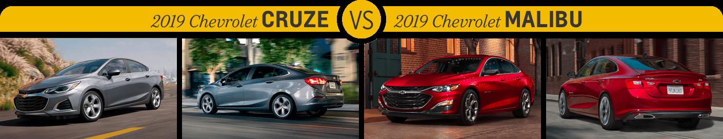 Chevrolet Cruze vs Chevrolet Malibu | Salem 2019 Chevy