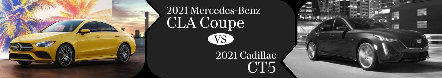 2021 Mercedes-Benz CLA Coupe vs Cadillac CT5 Comparison in Temecula, CA