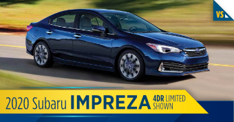 2020 Subaru Impreza 4-Door Comparison