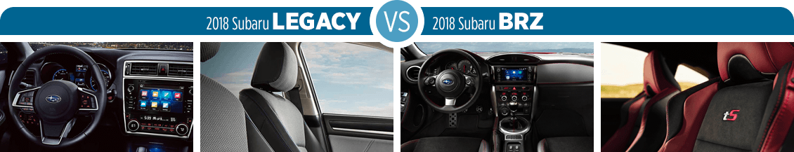 2018 Subaru Legacy VS 2018 Subaru BRZ Interior Comparison