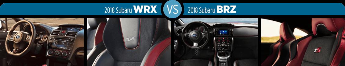 Brz Vs Wrx >> 2018 Subaru Wrx Vs 2018 Subaru Brz Sports Car Comparison