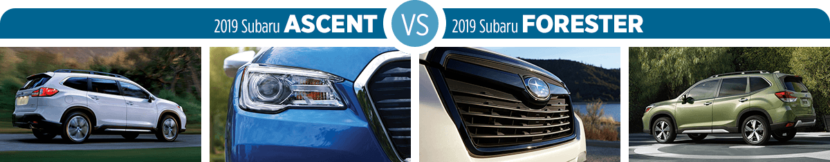 Research 2019 Subaru Ascent vs 2019 Subaru Forester Exterior Styling