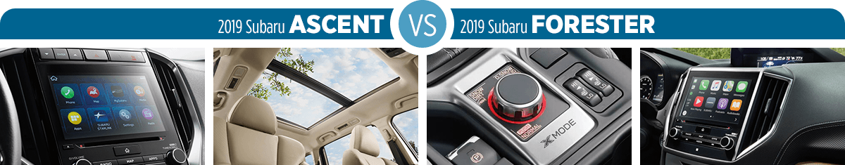 Research 2019 Subaru Ascent vs 2019 Subaru Forester Features