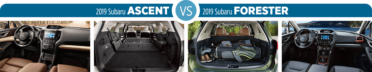 Research 2019 Subaru Ascent vs 2019 Subaru Forester Interior Styling