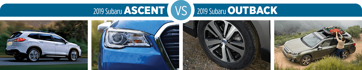 2019 Subaru Ascent vs 2019 Subaru Outback Exterior Comparison