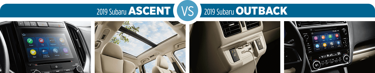 2019 Subaru Ascent vs 2019 Subaru Outback Feature Comparison