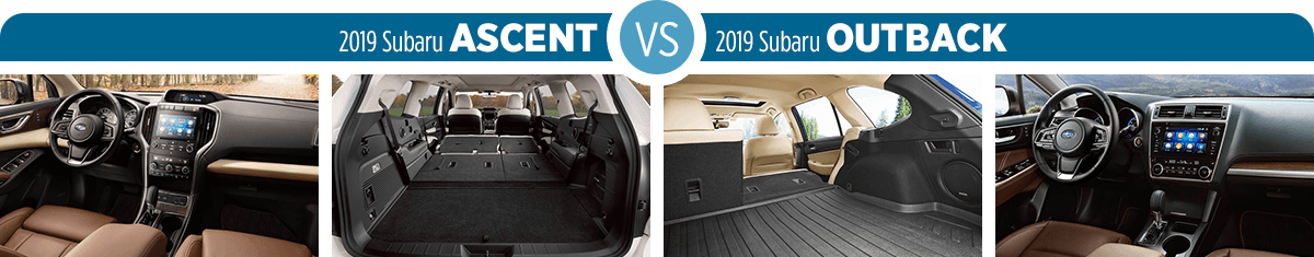 2019 Subaru Ascent vs 2019 Subaru Outback Interior Comparison