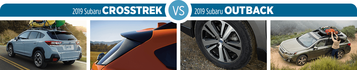 Research 2019 Subaru Crosstrek vs 2019 Subaru Outback Exterior