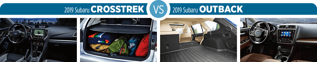 Research 2019 Subaru Crosstrek vs 2019 Subaru Outback Interior