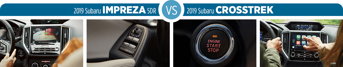 2019 Subaru Impreza vs Crosstrek Features