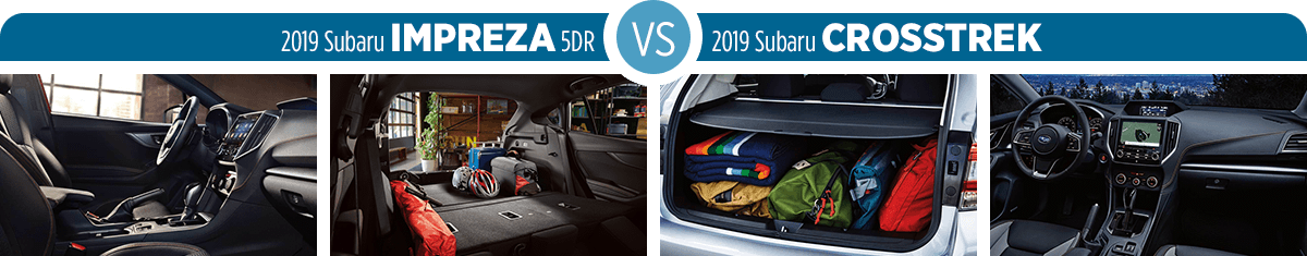 2019 Subaru Impreza vs Crosstrek Interior Comparison