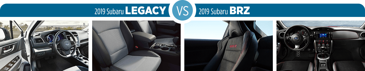 Research 2019 Subaru Legacy vs 2019 Subaru BRZ Interior