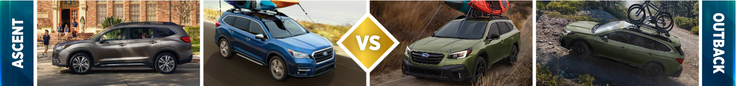 2021 Subaru Ascent vs Subaru Outback Exterior
