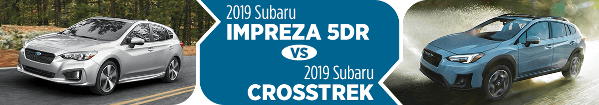 2019 Subaru Impreza vs Crosstrek Comparison Research in Salt Lake City, UT