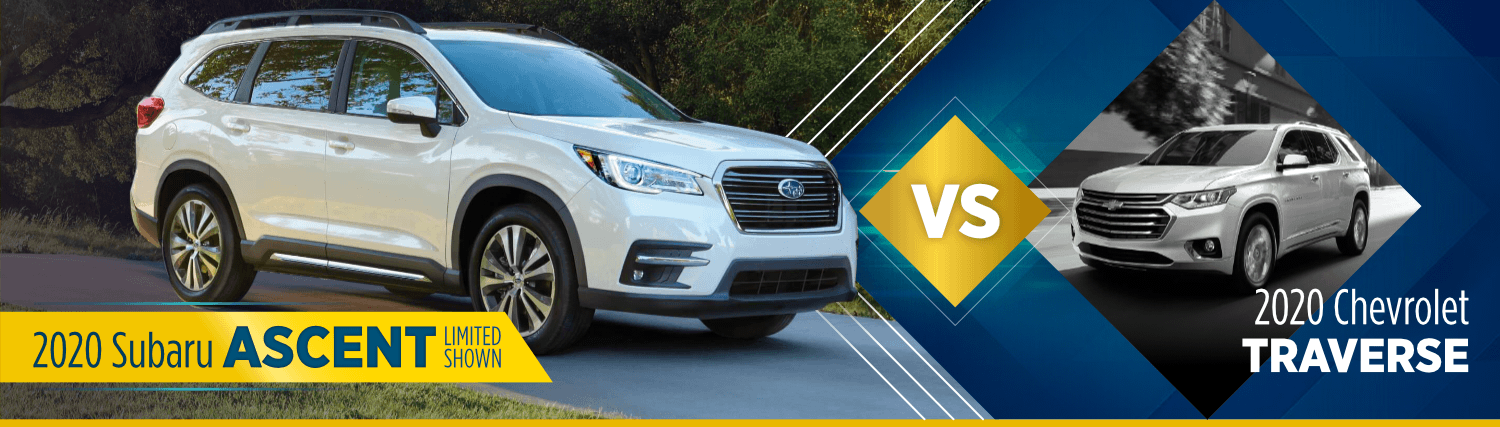 2020 Subaru Accent vs Chevrolet Traverse Comparison Information in Shingle Springs, CA