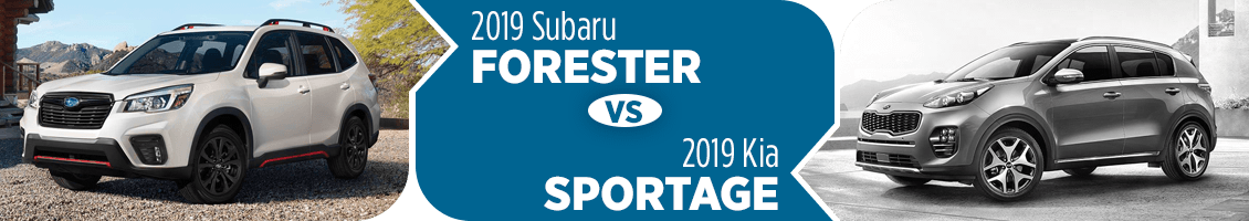 2019 Subaru Forester vs Kia Sportage 2-Row SUV Comparison in Columbus, OH