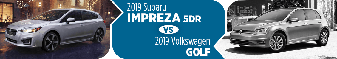 2019 Subaru Impreza Hatchback vs Volkswagen Golf Comparison in Columbus, OH
