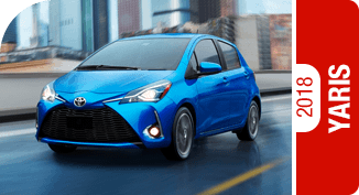 Click on each link to compare the 2018 Toyota Yaris to the competition