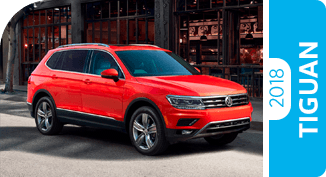 Click on each Tiguan comparison to learn more