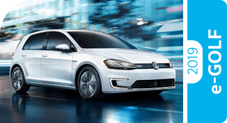 Click to view our 2019 Volkswagen e-Golf comparison pages to learn more