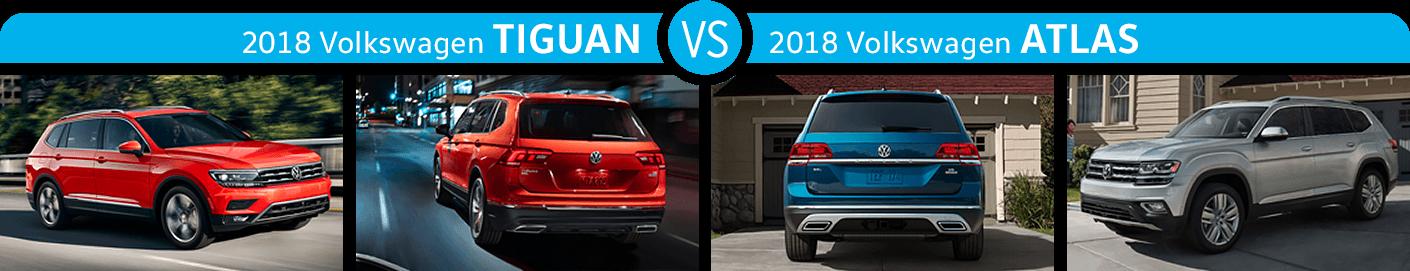 2018 Volkswagen Tiguan vs 2018 Volkswagen Atlas Exterior Comparison