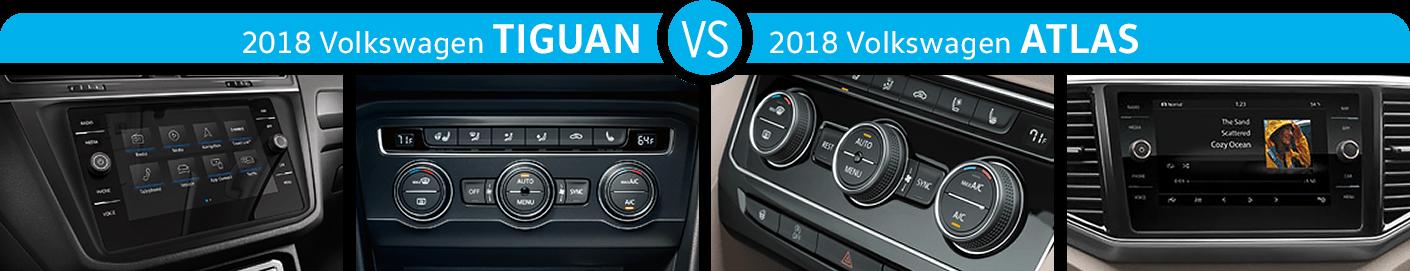2018 Volkswagen Tiguan vs 2018 Volkswagen Atlas Features