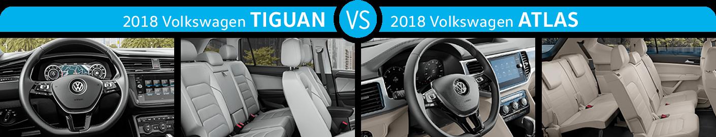 2018 Volkswagen Tiguan vs 2018 Volkswagen Atlas Interior Comparison
