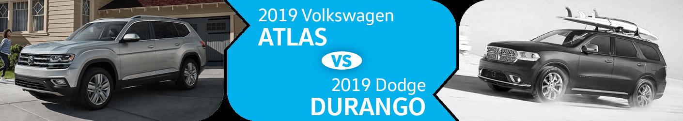 2019 Volkswagen Atlas vs Dodge Durango SUV Comparison in Seattle, WA