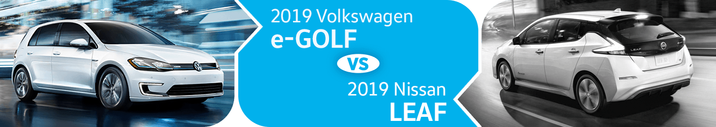 Compare 2019 Volkswagen e-Golf vs Nissan Leaf Models in Seattle, WA