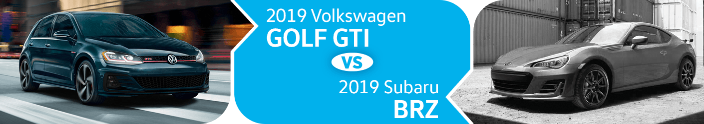 Compare 2019 Volkswagen Golf GTI vs Subaru BRZ Models in Seattle, WA