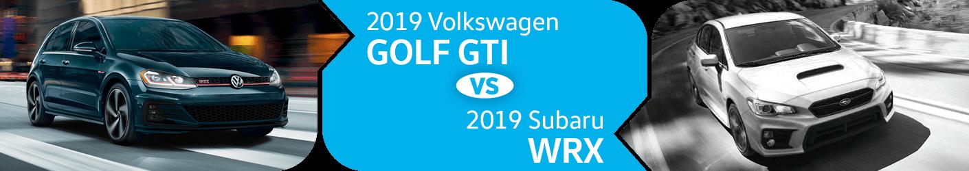 Compare 2019 Volkswagen Golf GTI vs Subaru WRX Models in Seattle, WA