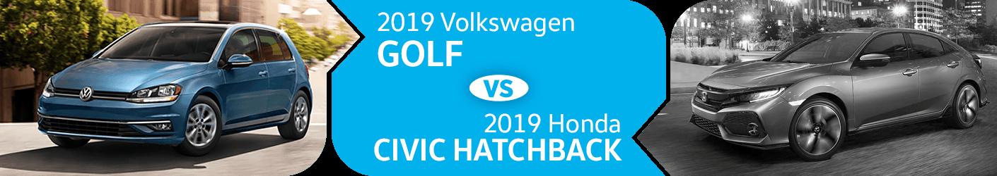 2019 Volkswagen Golf vs Honda Civic Hatchback Comparison in Seattle, WA