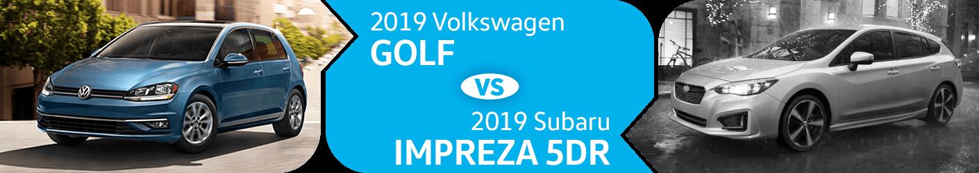 Compare 2019 Volkswagen Golf vs Subaru Impreza 5dr Models in Seattle, WA