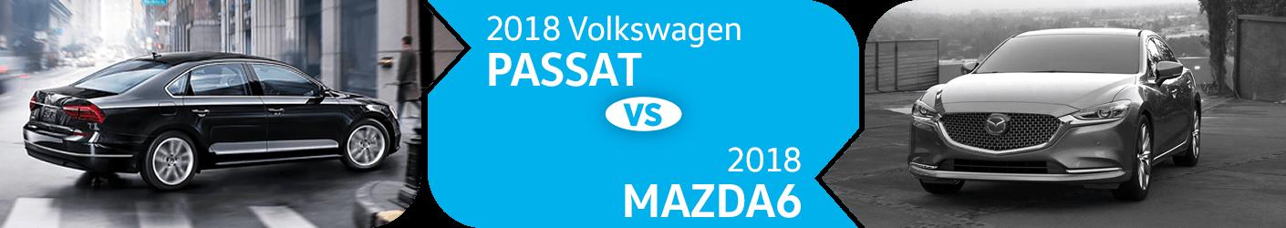 Compare 2018 Volkswagen Passat vs Mazda6 Models in Seattle, WA