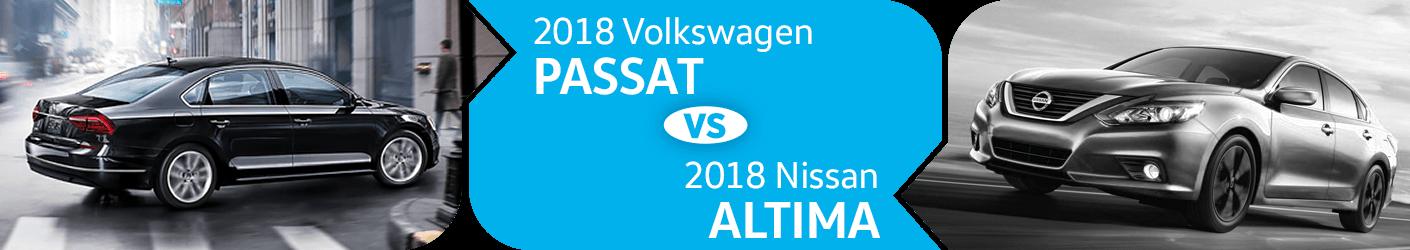 2018 Volkswagen Passat VS 2018 Nissan Altima Comparison in Seattle, WA