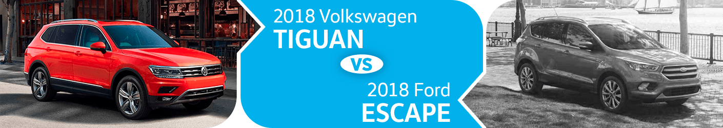 Compare 2018 Volkswagen Tiguan vs Ford Escape Models in Seattle, WA