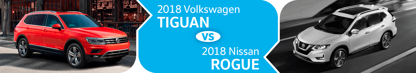 2018 Volkswagen Tiguan VS 2018 Nissan Rogue Comparison in Seattle, WA