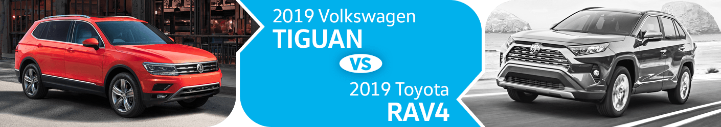 Compare 2019 Volkswagen Tiguan vs Toyota RAV4 Models in Seattle, WA