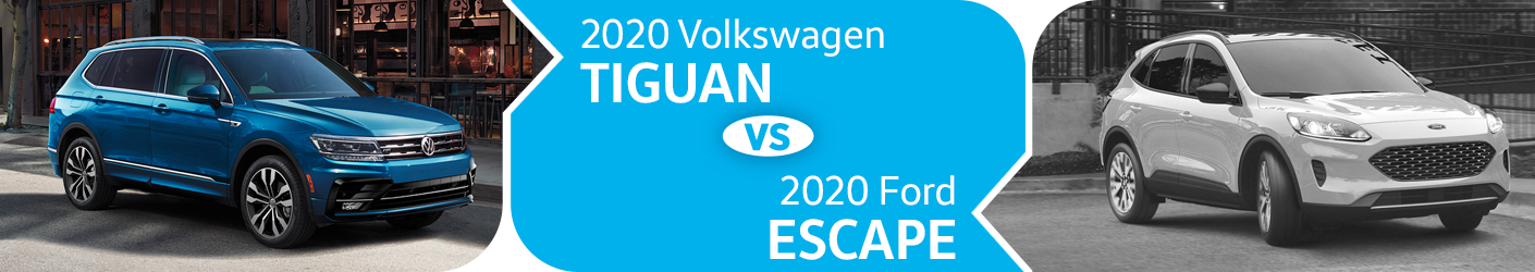 2020 Volkswagen Tiguan vs 2020 Ford Escape Comparison in Huntington Beach, CA