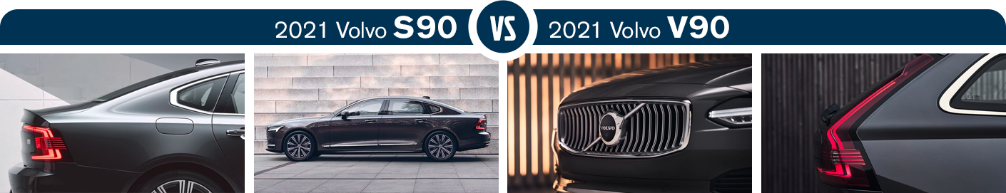 2021 Volvo S90 vs 2021 Volvo V90 Features